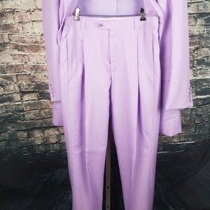 Falcone Suits & Blazers - Falcone 2PC Lavender Suit 42L Jacket 44x35 Pants
